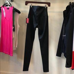 Faux leather snake black onzie high waist leggings